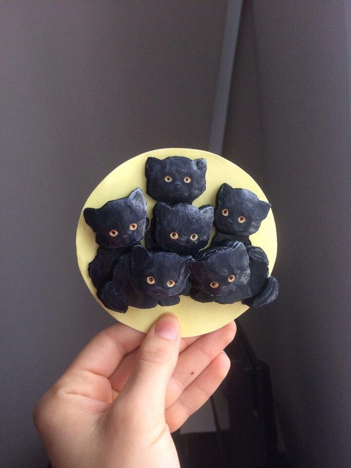 Папертоль Букет котят — пример собранной работы.