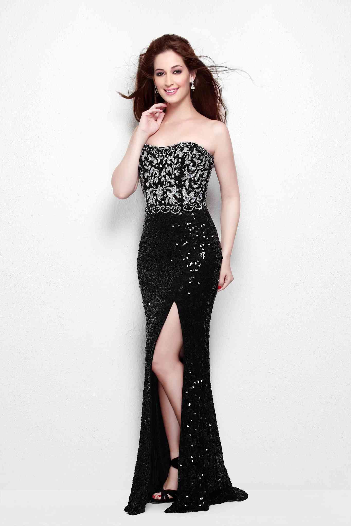 Вечернее черное платье Nora 11525