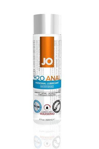 Анальный согревающий лубрикант на водной основе JO Anal H2O Warming - 120 мл.