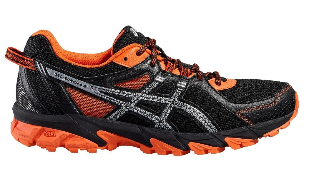 Беговые кроссовки для мужчин Asics Gel-Sonoma 2 (Асикс гель-сонома) черные