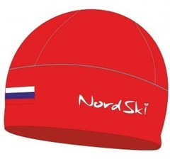 Лыжная шапка Nordski Active Red Rus