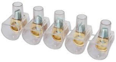 Клеммник концевой изолированный ККИ 2,5 мм2 (5х1) TDM