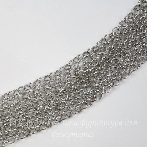 Цепь (цвет - платина) 4 мм, примерно 2 м