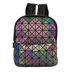 Геометрический неоновый рюкзак хамелеон City Volcano