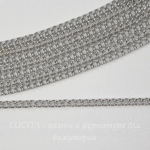 Цепь (цвет - платина) 2,4х1,8 мм, примерно 2 м