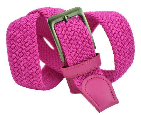 Ремень текстильный насыщенно розовый 35Rezinka-180
