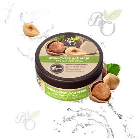 Натуральный крем-скраб для лица «Для жирной и комбинированной кожи», Bliss organic 150 мл