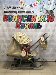 Санки коляска GALAXY KIDS 1-1 PLUS «скандинавия - белая ночь»
