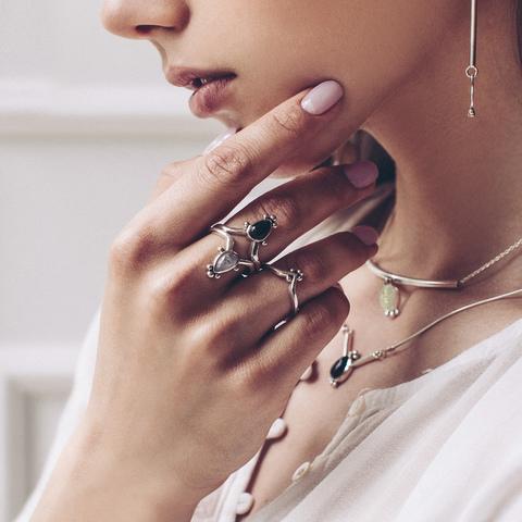 Кольцо IRIS - Опал