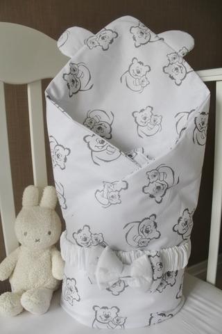Летнее одеяло - конверт на выписку Тедди