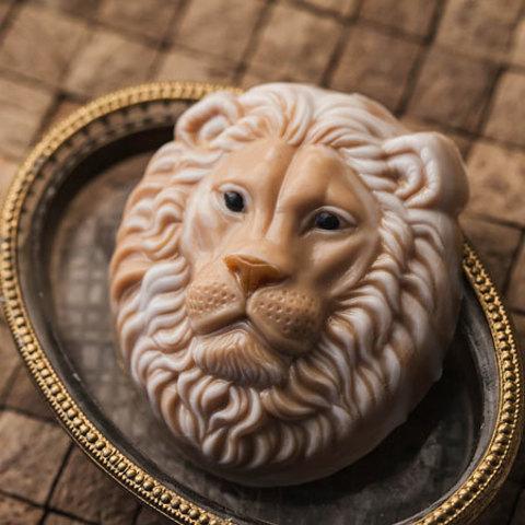 Пластиковая форма для мыла Лев