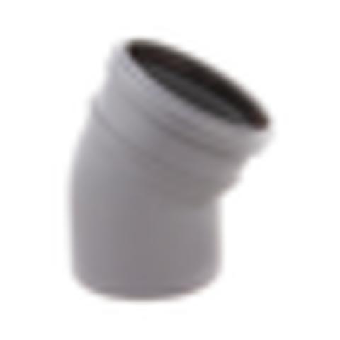 Отвод PP-H с раструбом серый Дн 50х45гр б/нап в/к VALFEX 20102050