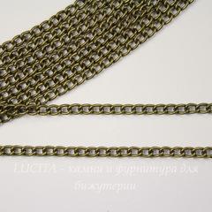 Цепь (цвет - античная бронза) 4х3 мм, примерно 2 м
