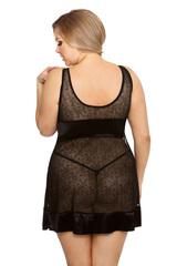 Эротическая женская сорочка черного цвета