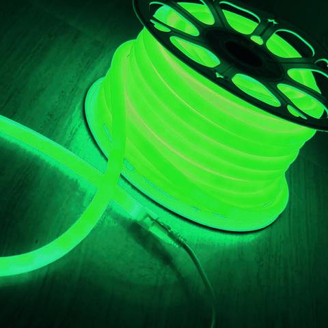 Светодиодный гибкий неон LS002 220V 9.6W 120Led 2835 IP67 круглый зеленый