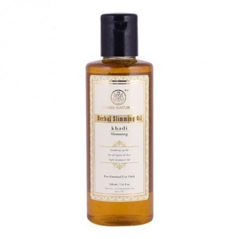 Антицеллюлитное масло для похудения с имбирем и лимоном - без парабенов и минерального масла Khadi Natural, 210 мл