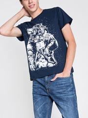 BKT003302 фуфайка мужская, темно-синяя
