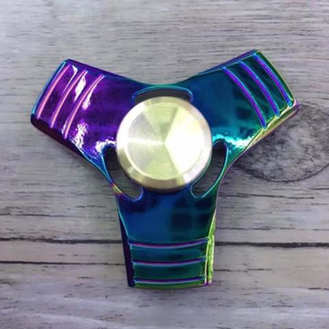 В наличии! Игрушка-антистресс спиннер металлический в подарочной металлической коробке Треугольник