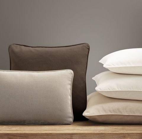 Custom Brushed Linen Cotton Piped Pillow Cover