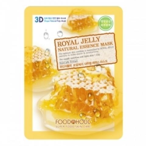 FoodaHolic 3D Маска с натуральным экстрактом пчелиного маточного молочка (ткан.) 23г