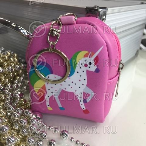 Ключница-брелок-кошелек для мелочи Единорог Милиса Розовая