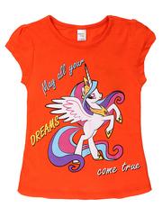 D002-21 футболка для девочек, оранжевая