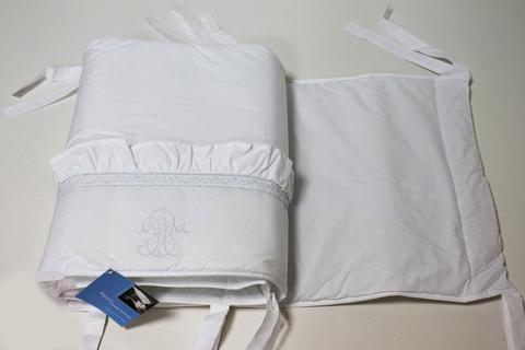 Бампер для детской кроватки 380х45 Bovi Вензель бело-голубой