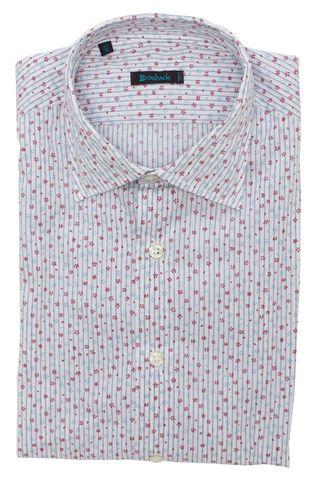 Белая рубашка с мелким цветочным принтом