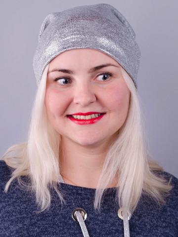 Фэшн. Молодёжные женские шапки. Серебро.