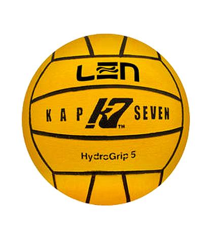 Официальный ватерпольный мяч KAP7 Official LEN + FINA Game Ball K7 5 yellow Размер 5 мужской арт.B-K7-LEN-5-01