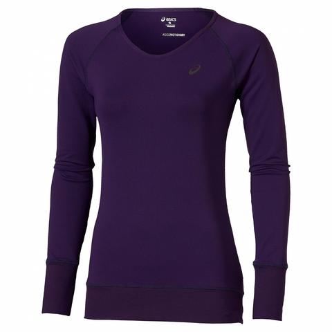 Футболка с длинным рукавом Asics Long Sleeve Tee женская purple