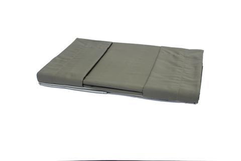 Постельное белье 2 спальное евро Caleffi Raso темно-коричневое/коричневое