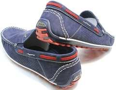 Мокасины мужские модные Faber 142213-7 Navy Blue.