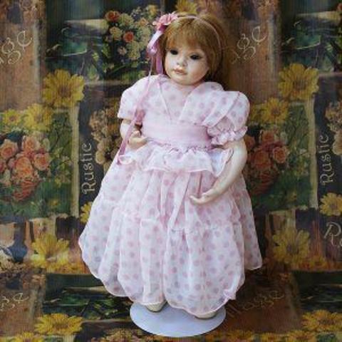 Кукла фарфоровая коллекционная Marigio Valentino