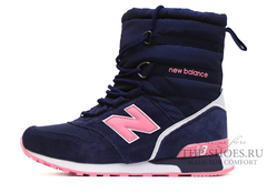 Сапоги Зимние Женские New Balance Navy Pink С Мехом
