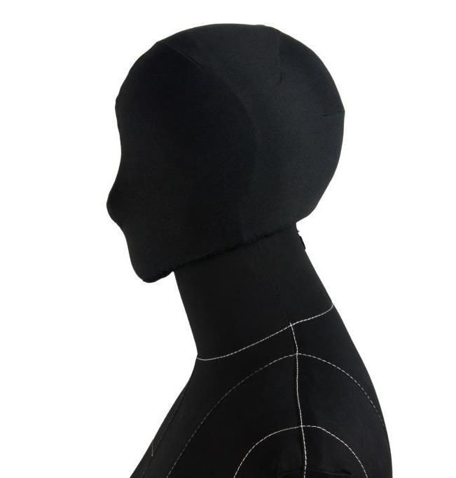 Голова к манекену Monica на магните черная