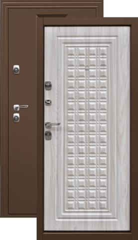 Дверь входная Дверной континент Контур, 2 замка, 1,5 мм  металл, беленый дуб