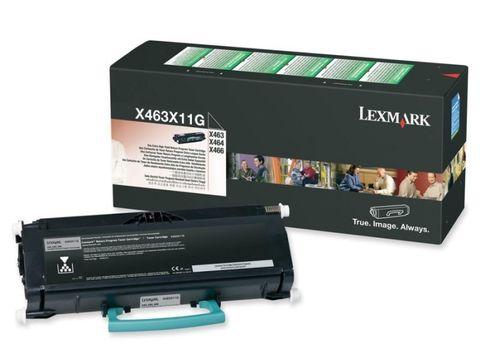 Тонер-картридж для принтеров Lexmark X463, X464, X466 черный (black). Ресурс 15000 стр (X463X11G)