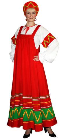 Русский народный костюм Ульяна красный