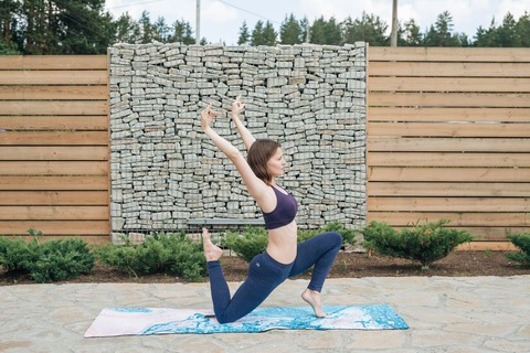 Коврик для йоги Il Mare 183*61*0,3см из микрофибры и каучука