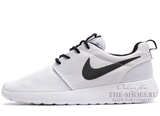 Кроссовки Женские Nike Roshe Run Material White Black