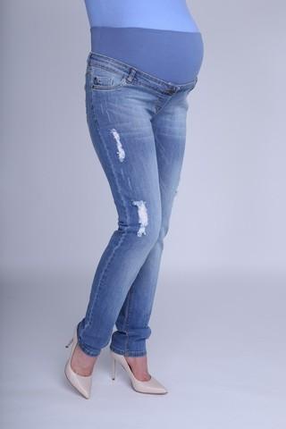 Джинсы для беременных (SLIM) 09611 синий