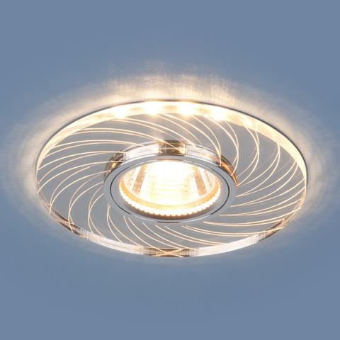 Встраиваемый точечный светильник с LED подсветкой 2203 MR16 CL прозрачный