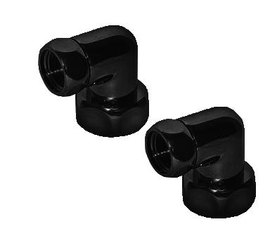 Переходник угловой черный  для подключения полотенцесушителя 2 американки.