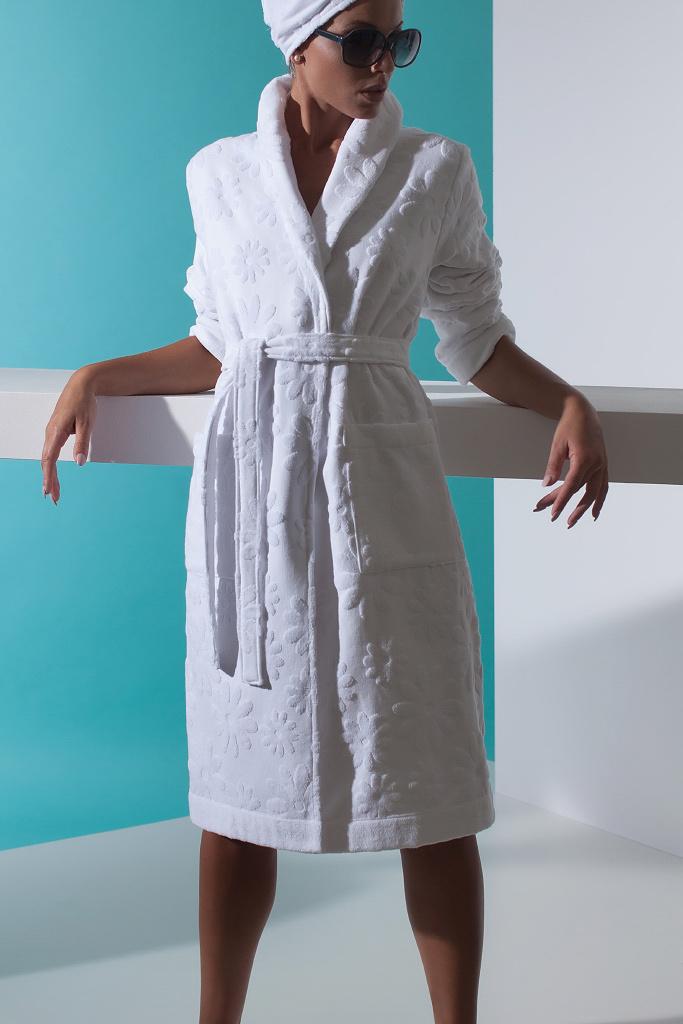 Белый махровый халат Luna di Giorno