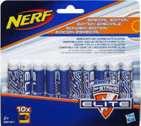 Nerf Elite 10 Pak New Deco Darts