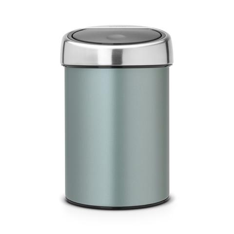Мусорный бак Brabantia Touch Bin (3л), Мятный металлик, арт. 364402 - фото 1