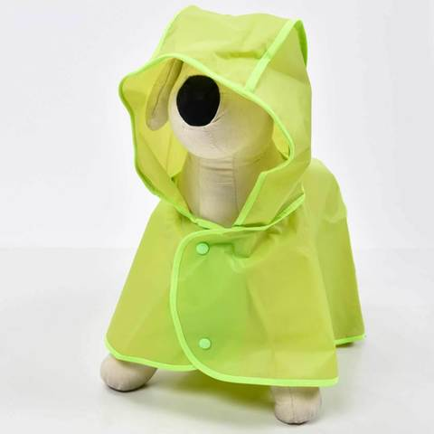 Плащ дождевик для собаки зеленый