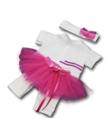 Костюм с юбкой - Цикламеновый. Одежда для кукол, пупсов и мягких игрушек.