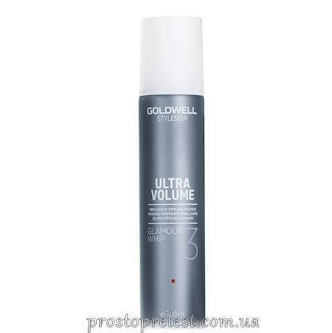 Goldwell StyleSign Ultra Volume Glamour Whip Brilliance Styling Mousse - Мусс для блеска и защиты цвета волос